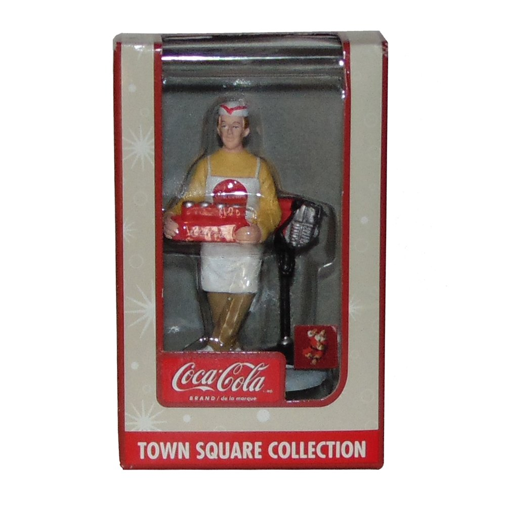 Coca Cola Town Square Collection Delivery Man with Drive-In Speakers on Post Accessory #21750