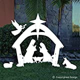 EasyGo Large Outdoor Nativity Scene - Large Christmas Yard Decoration Set and Reusable For Many Years