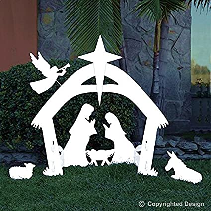EasyGo Large Outdoor Nativity Scene - Large Christmas Yard Decorations