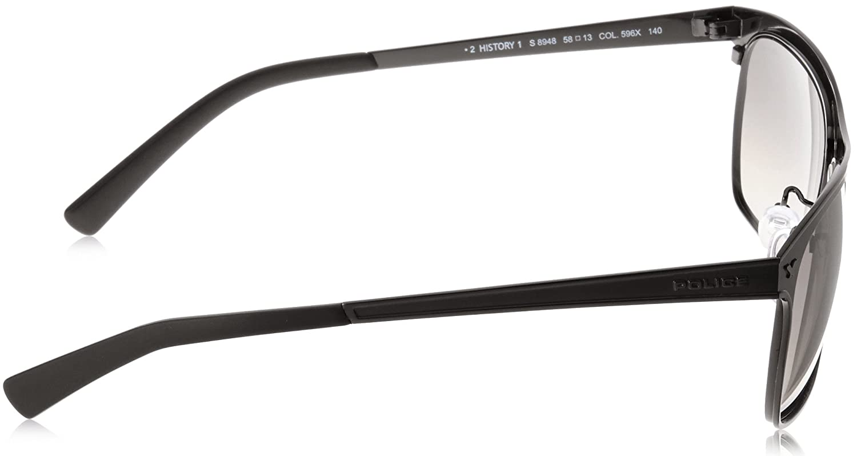 f7ee2e718b5 Police Matte Black History 1 Sunglasses Grey Gradient Lenses S8948 0K56   Amazon.co.uk  Clothing