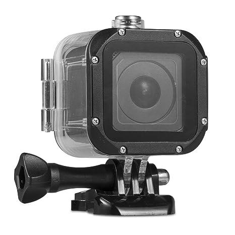 Kupton Carcasa Sumergible para GoPro Hero 5 Session Carcasa Protectora Sumergible hasta 45 m Case de Buceo Impermeable para Go Pro Hero5 Session y ...
