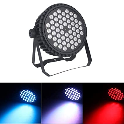 Amazon.com: U`King Wash Lighting Par Lights RGBW Color 54x3W LED Stage Light by Sound Activated with 8 Channels for Party DJ Disco Wedding Club Show ...