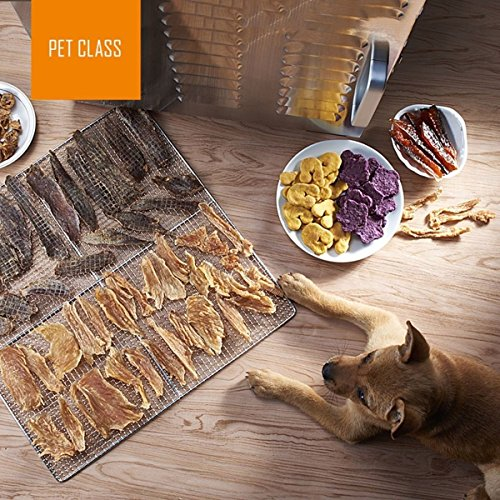 Ridgeyard 1000W Stainless Steel 10-Tray Countertop Food Dehydrator Fruit Jerky Dryer Food Saver Preserver Dehydration Vegetable Meat Beef Jerky Maker W/ Timer,Temperature Control for a Healthy Diet by Ridgeyard co,.ltd (Image #7)