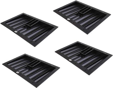 sharprepublic Lot de 6 Plateaux Support de Fiche Jeton de Poker Jouet Stockage 100 Jetons 20,5 x 7,8 x 2,8 cm
