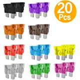 dna standard car fuses 20pcs assorted auto car standard blade fuses  replacement kit 2a 3a 5a