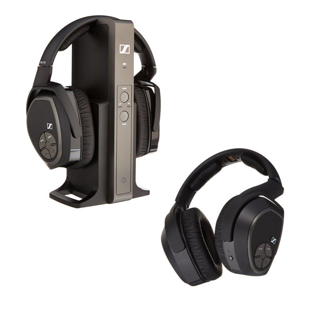 90f977f5b8f Amazon.com: Sennheiser RS 175 RF Wireless Headphone System and Sennheiser  HDR 175 Accessory RF Wireless Headphone Bundle: Home Audio & Theater