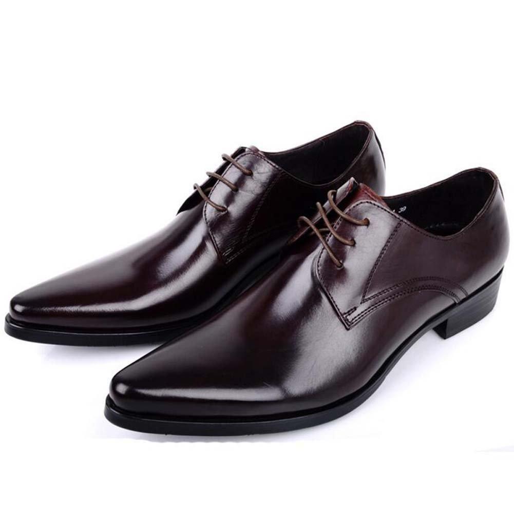 GLSHI Männer Spitzen Schuhe Geschäft Kleid Schuhe Atmungsaktive Schuhe Nacht Flut Schuhe Frühling und Sommer Neu