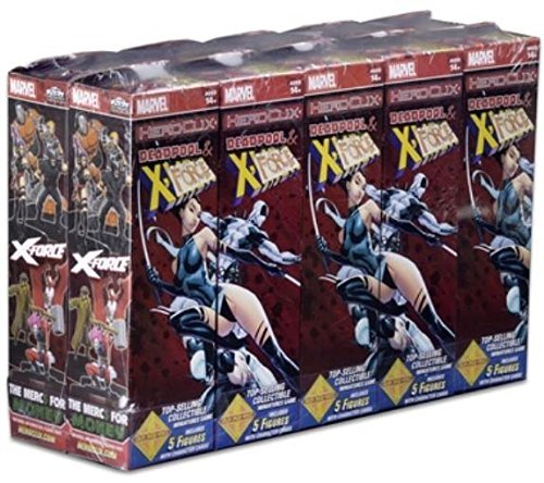 Marvel HeroClix: Deadpool and X-Force Booster Brick ( 10 Count ) Wizkids 72536 by NECA