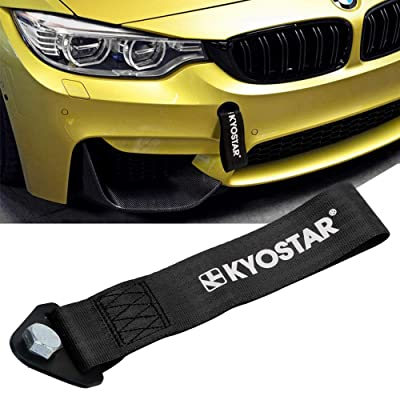 Kyostar Drift Rally car Towing Tow Strap Belt Hook(Black): Automotive