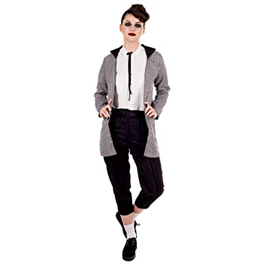 Amazon Com Womens Teddy Girl Costume Adults 50s Rock N Roll Black