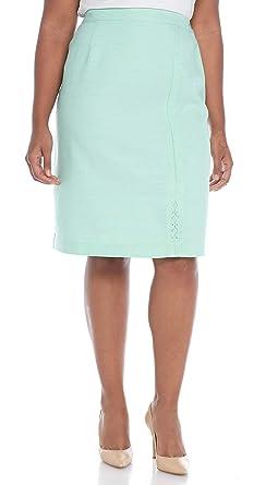 7591a9cfc01 Alfred Dunner Women s Plus-Size Roman Holiday Diamond Cutout Skirt at  Amazon Women s Clothing store