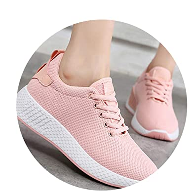 Amazon.com | Yuehen Sneakers air mesh Spring/Autumn Shoes Solid Black/White/Pink Female Shoes Zapatillas Mujer Plus Size 34-40 | Fashion Sneakers