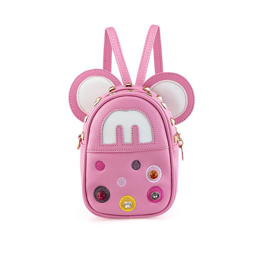 Pydersp Kids backpack for Girl 2-in-1 Satchel Small Mini Birthday Crossbody Messenger Bag PU