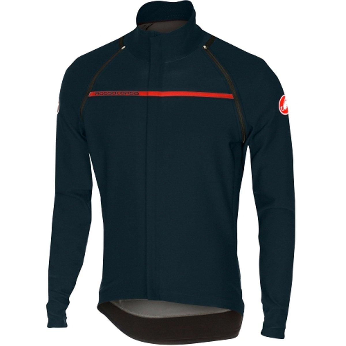 CastelliメンズPerfetto Convertible Cycling Jacket B079DL47GF Medium|dark infinity blue dark infinity blue Medium