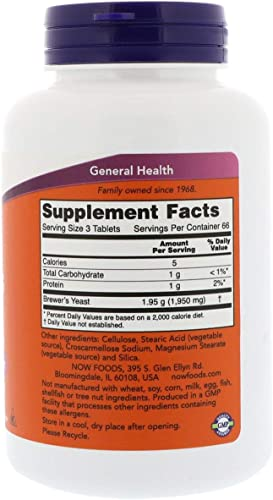 NOW Foods Brewer s Yeast 650 mg 200 Tabs