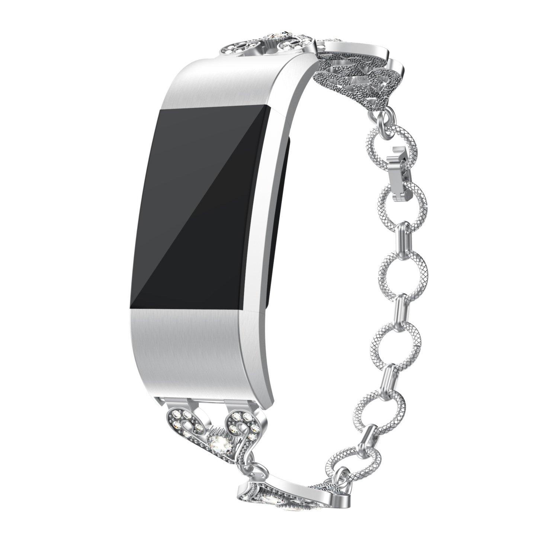 cmbroステンレススチールストラップfor腕時計ストラップバンドfor Fitbit Charge 2  B07BQHZVJH