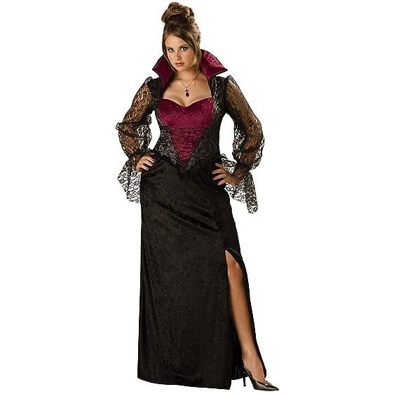Amazon.com: Midnight Vampiress Costume - Plus Size 3X - Dress Size ...
