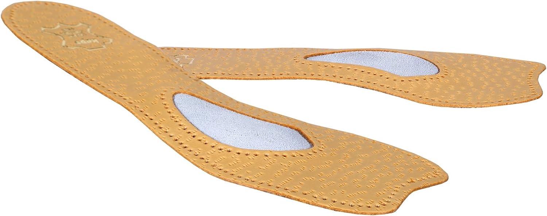 Kaps Plantillas Ortopédicas de Cuero 3/4 para Zapatos y Tacones Altos Con Soporte Para el Arco, Plantillas de Zapatos Con Punta Abierta Para Mujeres, Ballet