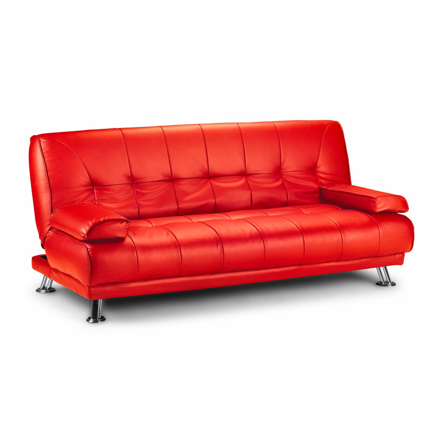 Fabulous Limitless Home Venice Faux Leather Sofa Suite Sette Sofabed With Chrome Feet Red Download Free Architecture Designs Philgrimeyleaguecom