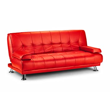 Phenomenal Limitless Home Venice Faux Leather Sofa Suite Sette Sofabed With Chrome Feet Red Download Free Architecture Designs Philgrimeyleaguecom