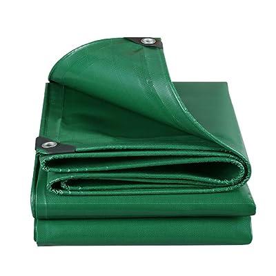 DIKA UK bâche armée de protection / Tarpaulin vert feuille bâches multifonctions Poncho pour camping pêche jardinage protection contre le soleil résistance au froid, épaisseur 0.45MM, 50