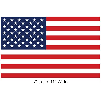"Large 7"" x 11"" Rectangular United States American Flag Decal Sticker;""Super Premium Quality"" Heavy-Duty 3M USA Vinyl, Die-Cut, Screen Printed, Adhesive on Back: Arts, Crafts & Sewing"