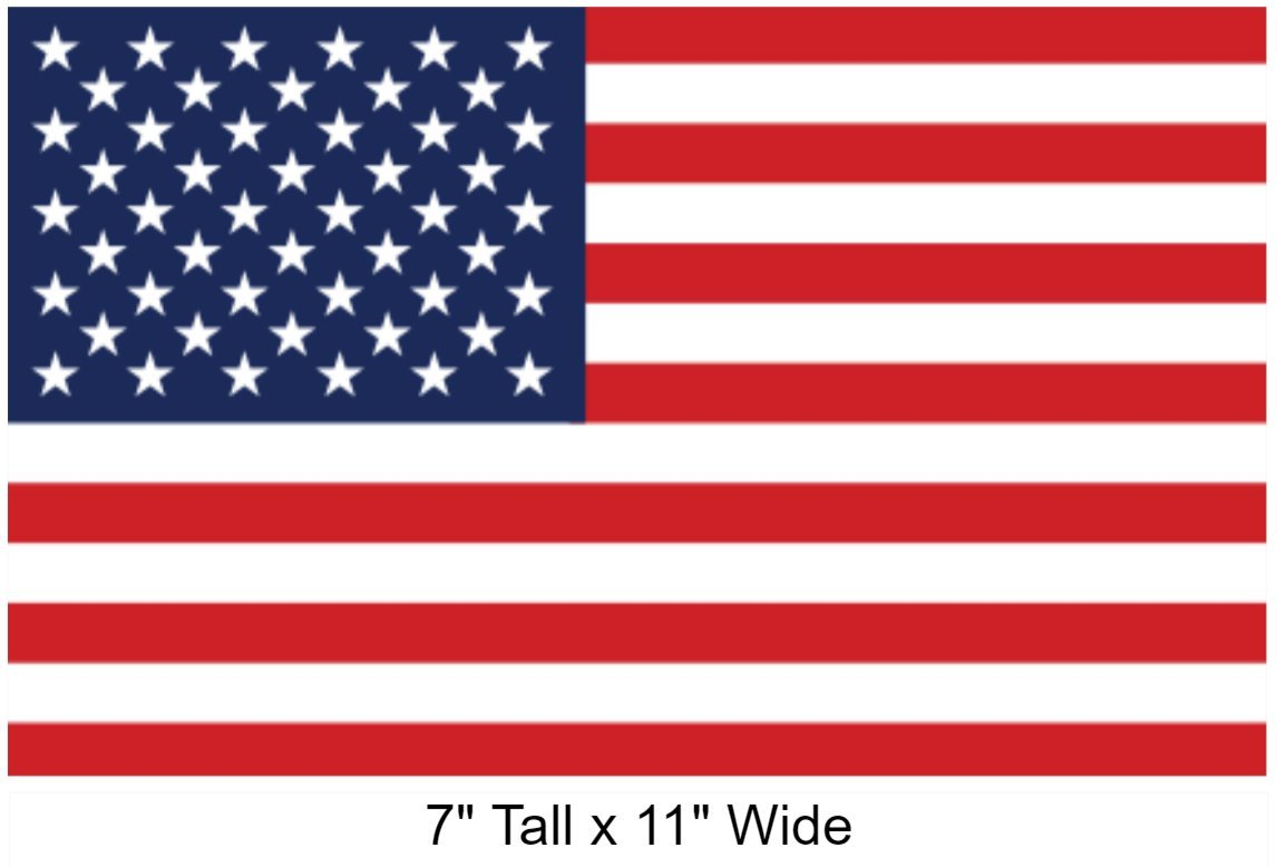 Screen Printed 1-Pak-7x11-USA/_Flag SecurePro Products Large 7 x 11 Rectangular United States American Flag Decal Sticker; Super Premium Quality Heavy-Duty 3M USA Vinyl Die-Cut Adhesive on Back Security Products Co