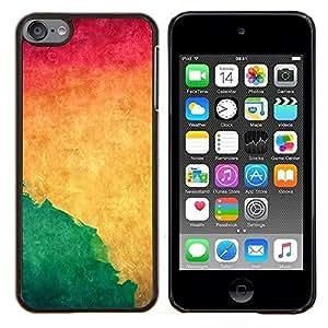"Be-Star Único Patrón Plástico Duro Fundas Cover Cubre Hard Case Cover Para iPod Touch 6 ( Acuarela Verde Líquido dinámico Yellow Wallpaper"" )"