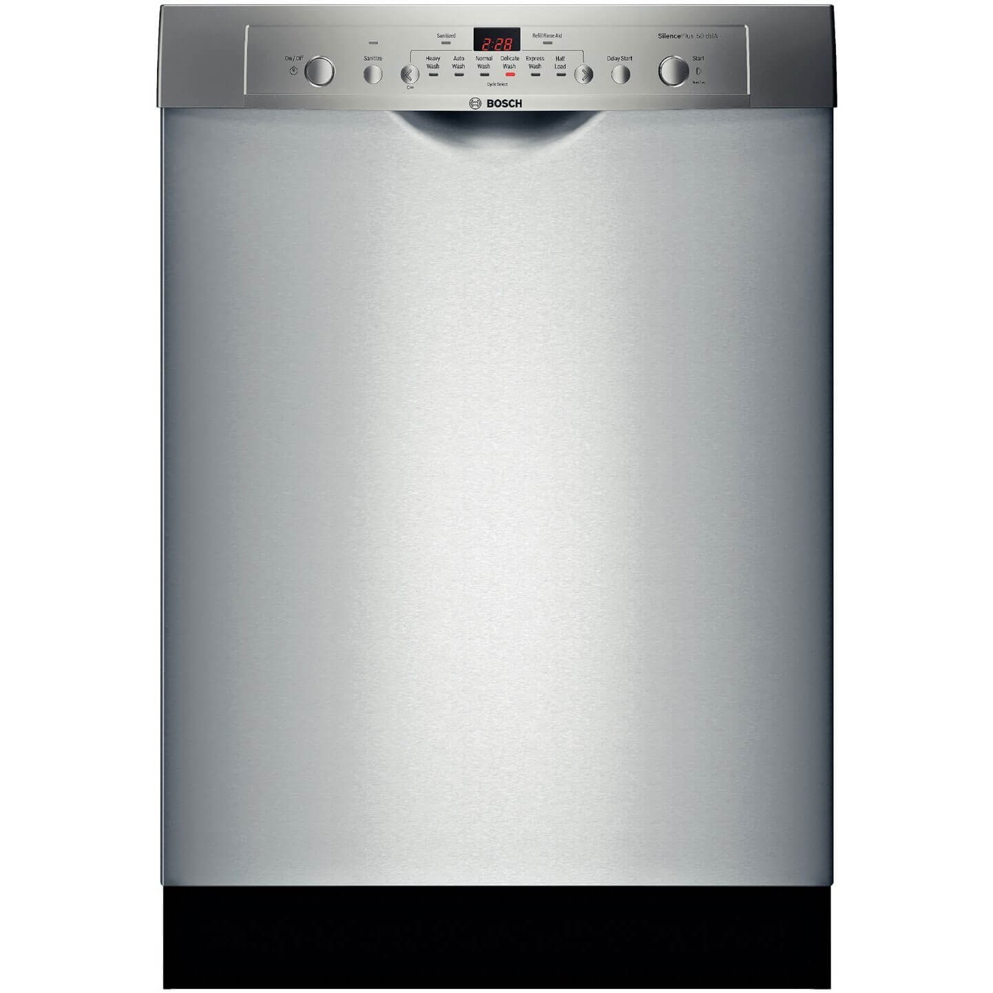 Amazon.com: Bosch : SHE3AR75UC 24 Ascenta Series Full Console Dishwasher -  Stainless Steel: Appliances