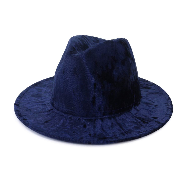 DOSOMI Women Fedora Hat Men Wide Brim Hat Autumn Winter Sombreros Jazz Panama Hats