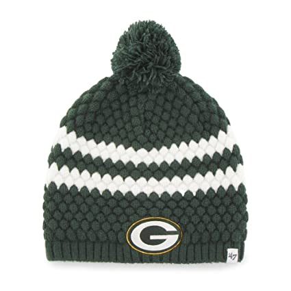2032e19fb72 Image Unavailable. Image not available for. Color   47 Women s Knit Green  Bay Packers Beanie Cap