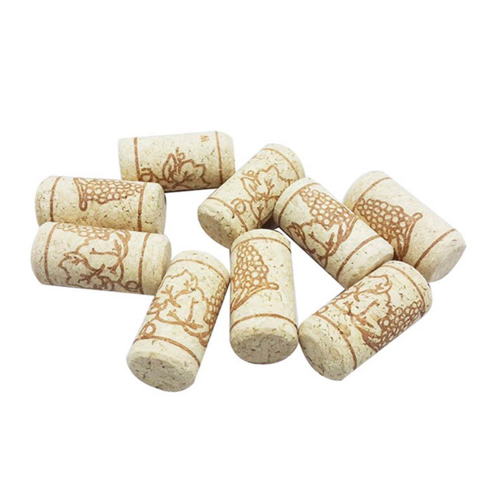 Morza 15pcs Recta de Botellas Corchos de Vino de Madera tap/ón de la Botella de Vino Corchos Tapones de Botellas Plug La Barra de Herramientas del Corcho del Vino Tapas de Cierre de Madera