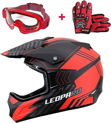 Amazon.es: Leopard LEO-X307 Casco Motocross Eduro ECE Homologado ...