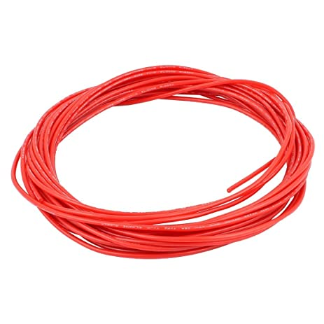 uxcell 10M 32.8Ft 24AWG 10KV Electric Copper Core Flexible ...
