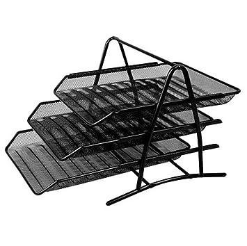 Bandejas de escritorio, 3 niveles, papel, bandeja para cartas, organizador de escritorio