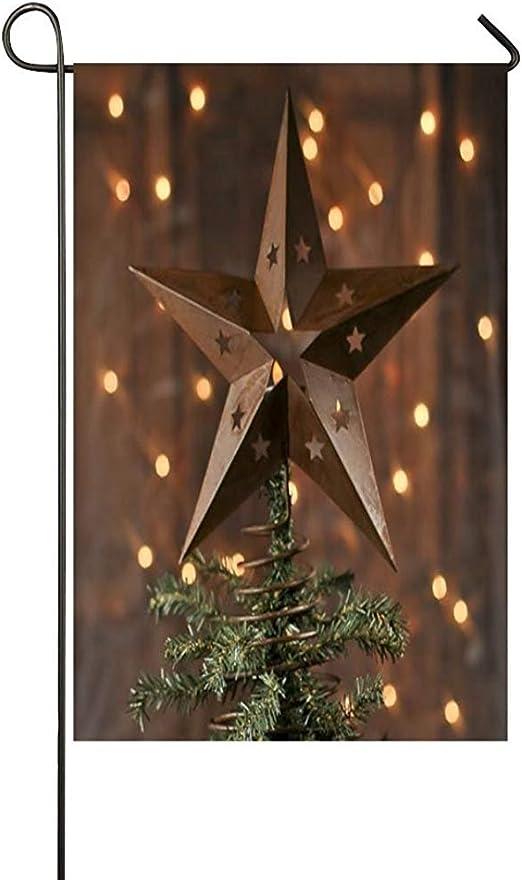 Staroden Banderas de jardín rústico de Primavera árbol de Navidad árboles de Navidad e Invierno Manualidades Vacaciones decoración de Vacaciones Bandera de Doble Cara 12