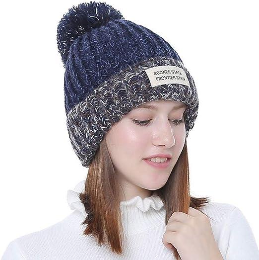 Hats Gorra De Lana Gruesa Y Cálida para Mujer, Gorro De Invierno ...