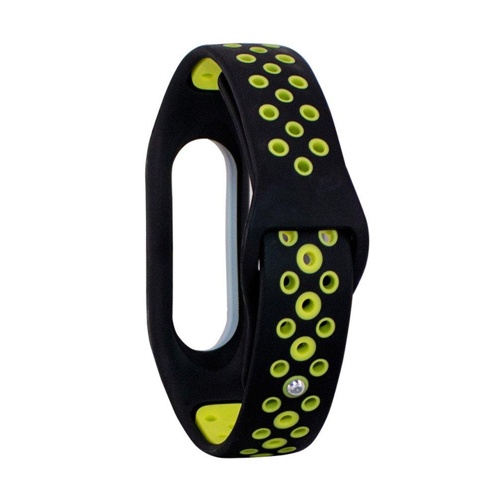 Boton deXiaomi Mi 2 de Correa Reverso de Dos Colores Banda de Reemplazo Pulsera de Reloj Strap de Silicona Pulsera Suave Watch Venda: Amazon.es: Relojes