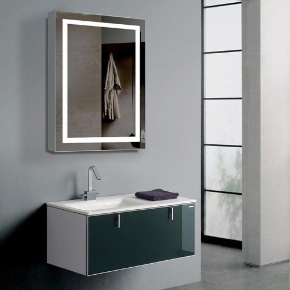 París Espejo armonía armario con iluminación LED espejo de baño ...