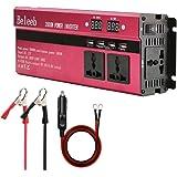 Power Inverter 2000W, Digital Display DC 12V to AC 220V / 230V / 240V Outlet, Car/Battery / Solar Power Converter with 3 AC Outlets & 4 USB Ports