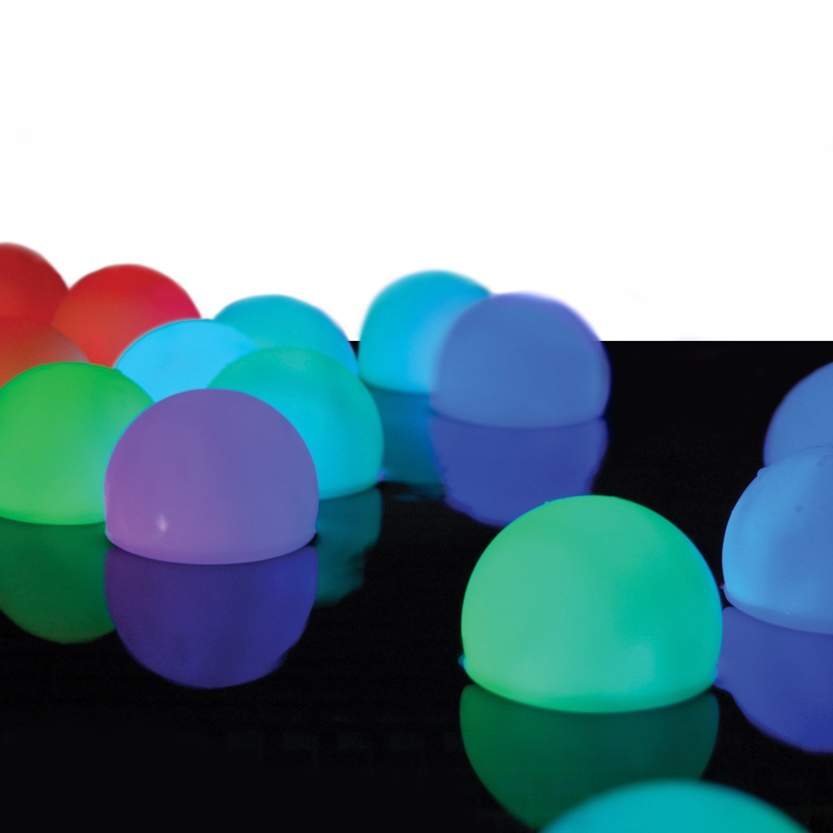 "Set of 12 Mood Light Garden Deco Balls- Battery Operated 3"" Floating Color Changing LED Balls for Pools, Ponds & More"