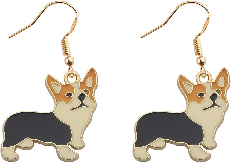 TIIMG CorgiGift Corgi Mom Gift Corgi Owner Gift Corgi Dangle Earrings Dog Lover Gift Dog Mom Jewelry