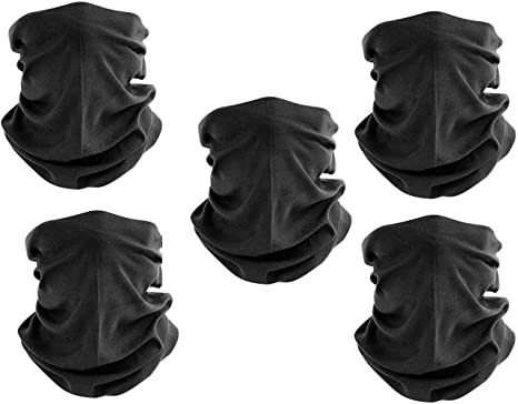 4 Pack Breathable UV Protection Face Mask Cover Stretchy Face Shield Headband Scarf Neck Gaiters Summer Cooling Balaclava for Outdoor Cycling Motorcycle Rhino Valley Headwear Bandana,