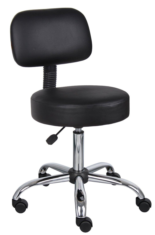 Nicer Furniture Medical Drafting Chair Salon Stool Back Cushion Tattoo Hydraulic Chair, Black Office Chairs Canada