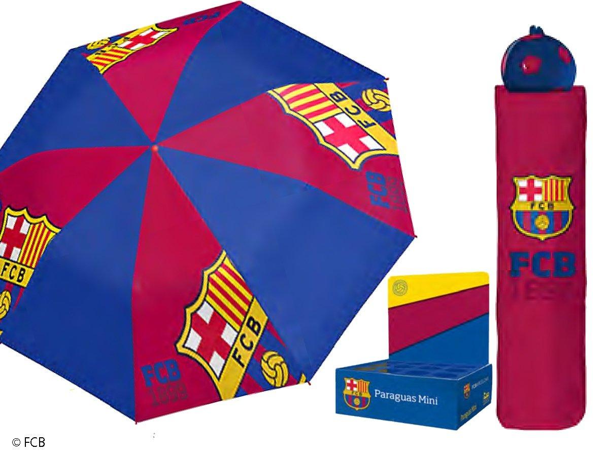 PERLETTI FC Barcelona - Paraguas Antiviento, Azul, 54 Cm: Amazon.es: Deportes y aire libre