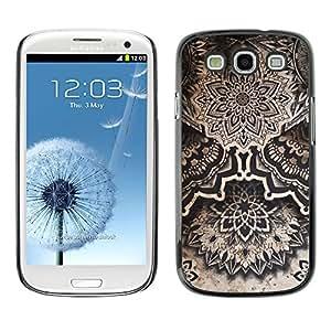 For SAMSUNG Galaxy S3 III / i9300 / i747 Case , Art Drawing Ink Black White - Diseño Patrón Teléfono Caso Cubierta Case Bumper Duro Protección Case Cover Funda