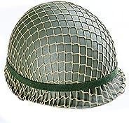 Lysport Repro Steel Helmet with Camouflage Net
