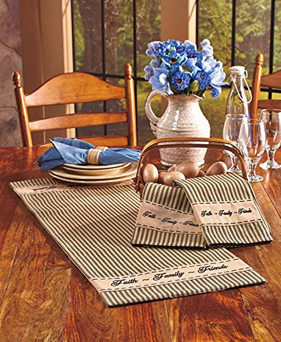 Country Kitchen Gathering Room Collection 4 Pieces Bundle RED by Home Collection by Raghu (Image #4)