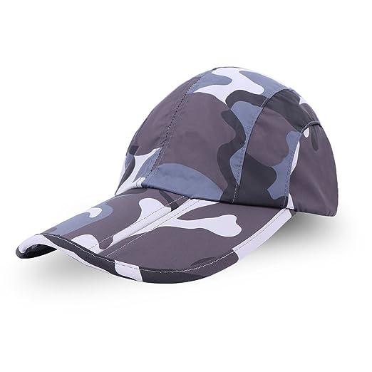 Anyoo Gorra de béisbol Plegable Sombrero Gran protección Solar ...