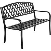 Gardeon Cast Iron Vintage Garden Bench - Black